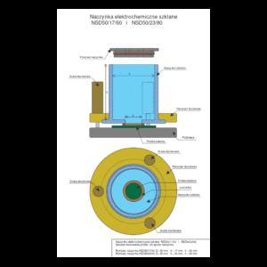 Naczyńka szklane typ NSD 50/17/60 i BOT-GL-50-xx-60